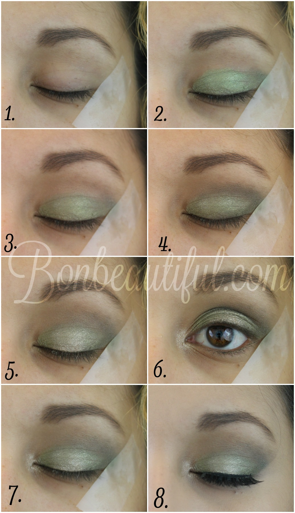 Olive Green Smokey Eye Makeup Tutorial Bondbeautyful